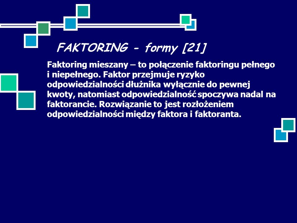 FAKTORING - formy [21]